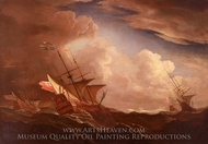 English Ships at Sea Beating to Windward in a Gale painting reproduction, Willem Van De Velde