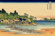 Enoshima in the Sagami Province painting reproduction, Katsushika Hokusai
