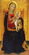 Enthroned Virgin and Child painting reproduction, Battista di Maestro Gerio