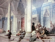 Entrance of the Mosque painting reproduction, Amedeo Preziosi