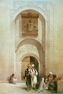 Entrance to a Private Mansion painting reproduction, David Roberts