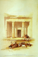 Entrance to the Caves of Beni Hassan painting reproduction, David Roberts