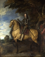 Equestrian Portrait of Charles I painting reproduction, Sir Anthony Van Dyck
