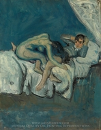 Erotic Scene (La Douleur) painting reproduction, Pablo Picasso (inspired by)