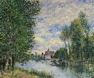 Ete A Moret��� painting reproduction, Alfred Sisley