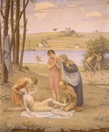 Eurydice Bitten by the Snake painting reproduction, Bryson Burroughs
