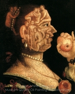 Eve and Apple painting reproduction, Giuseppe Arcimboldo