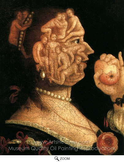 Giuseppe Arcimboldo, Eve and Apple oil painting reproduction