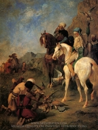 Falcon Hunting in Algeria, the Quarry painting reproduction, Eugene Fromentin
