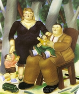 Family painting reproduction, Fernando Botero