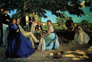 Family Reunion painting reproduction, Jean Frederic Bazille