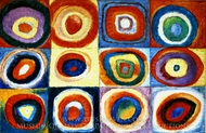 Farbstudie Quadrate painting reproduction, Wassily Kandinsky