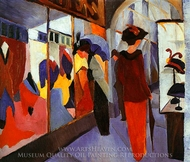Fashion Shop (Modegeschaft) painting reproduction, August Macke