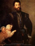 Federigo II, Gonzaga painting reproduction, Titian