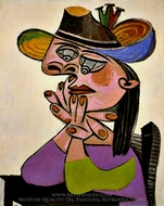 Femme Accoudee painting reproduction, Pablo Picasso (inspired by)