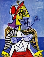 Femme Assise painting reproduction, Pablo Picasso (inspired by)
