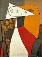 Femme Assise (Figure) painting reproduction, Pablo Picasso (inspired by)