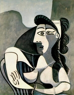 Femme dans un Fauteuil (Buste) painting reproduction, Pablo Picasso (inspired by)