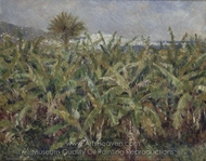 Field of Banana Trees painting reproduction, Pierre-Auguste Renoir