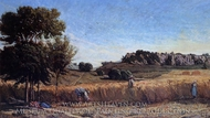 Field of Wheat painting reproduction, Paul-Camille Guigou