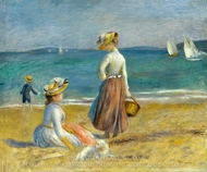 Figures on the Beach painting reproduction, Pierre-Auguste Renoir