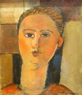 Fille Rousse painting reproduction, Amedeo Modigliani