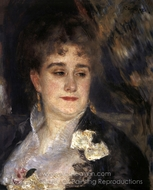 First Portrait of Madame Georges Charpentier painting reproduction, Pierre-Auguste Renoir
