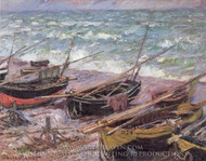 Fishing Boats painting reproduction, Claude Monet