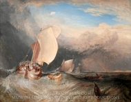 Fishing Boats with Hucksters Bargaining for Fish painting reproduction, J.M.W. Turner