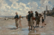 Fishing for Oysters at Cancale painting reproduction, John Singer Sargent