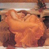 Flaming June painting reproduction, Lord Frederic Leighton