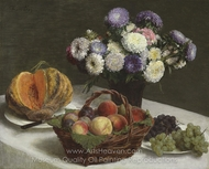 Fleurs et Fruits painting reproduction, Henri Fantin-Latour