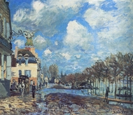 Flood at Port-Marly painting reproduction, Alfred Sisley