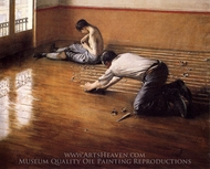 Floor Scrapers painting reproduction, Gustave Caillebotte