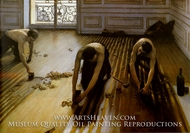 The Floor Scrapers painting reproduction, Gustave Caillebotte
