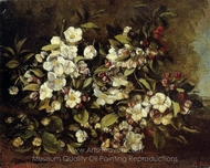 Flowering Apple Tree Branch painting reproduction, Gustave Courbet