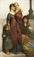 Flower Sellers of London painting reproduction, Gustave Dore