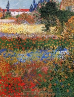 Flowering Garden painting reproduction, Vincent Van Gogh