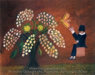 Flowers painting reproduction, Onisim Babici