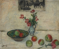 Flowers and Fruit painting reproduction, Georges D'Espagnat