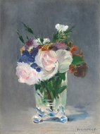 Flowers in a Crystal Vase painting reproduction, Edouard Manet