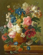 Flowers in a Vase painting reproduction, Paulus Theodorus Van Brussel