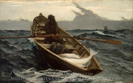 Fog Warning painting reproduction, Winslow Homer