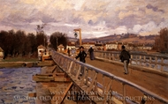 Footbridge at Argenteuil painting reproduction, Alfred Sisley