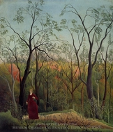 Forest Promenade painting reproduction, Henri Rousseau