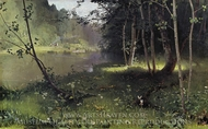 Forest River painting reproduction, Nikolay Dubovskoy