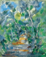 Forest Scene painting reproduction, Paul Cézanne