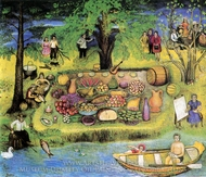 Fork Party by the Irtich River painting reproduction, Elena A. Volkova