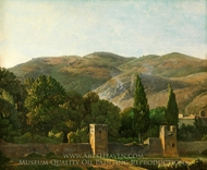 Fortified Wall, Italy painting reproduction, Simon Denis