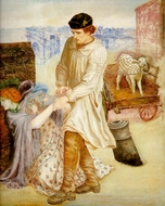 Found painting reproduction, Dante Gabriel Rossetti